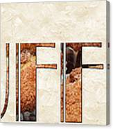 The Word Is Muffins Canvas Print
