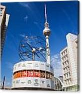 The Worldtime Clock Alexanderplatz Berlin Germany Canvas Print