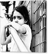 The Worried Little Girl Canvas Print