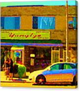 The Yangtze Chinese Food Restaurant On Van Horne Montreal Memories Cafe Street Scene Carole Spandau  Canvas Print
