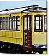 The Yellow Trolley Car Canvas Print