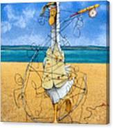 The Yoga Of Fly Fishing... Canvas Print