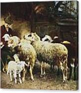The Young Shepherd Canvas Print