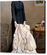 The Young Widow, 1877 Canvas Print