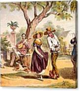 The Zapateado - National Dance, 1840 Canvas Print