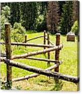 The Zig-zag Fence Canvas Print