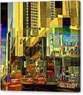 Theatre District - Neighborhoods Of New York City Canvas Print