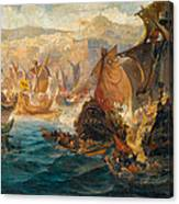 The Crusader Invasion Of Constantinople Canvas Print