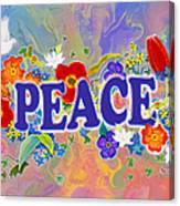 Themes Of The Heart-peace Canvas Print