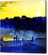 Then The Light Came Swiftly Canvas Print