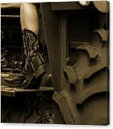 These Boots 1 Sepia Canvas Print
