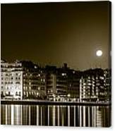 Thessaloniki At Night. Canvas Print