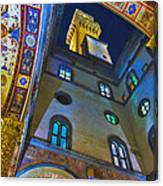 Viev From Courtyard Of Palazzo Vecchio Florence Canvas Print