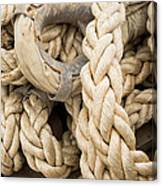 Braided Rope With Eyelet Canvas Print