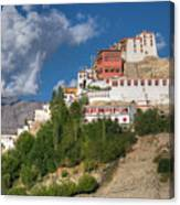 Thiksay Monastery Ladakh Jammu And Kashmir India Canvas Print