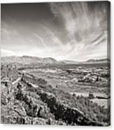 Thingvellir Iceland Black And White Canvas Print