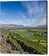 Thingvellir Iceland Canvas Print