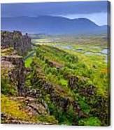 Thingvellir National Park Rift Valley Canvas Print