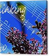 Thinking Of You  - Memories - Music Canvas Print