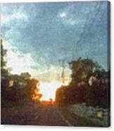 Third Sunset Canvas Print