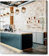 Third Wave Coffee Shop Interior Canvas Print