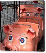This Little Piggy Went To Market Canvas Print