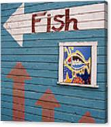 This Way To The Fish Canvas Print