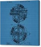 Thomas Edison Blueprint Phonograph Canvas Print
