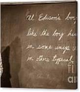 Thomas Edison's Boyhood School Canvas Print
