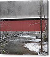 Thomas Mill Covered Bridge Along The Wintery Wissahickon Canvas Print