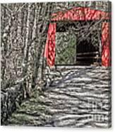 Thomas Mill Covered Bridge Canvas Print