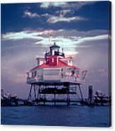 Thomas Pt.  Shoal Lighthouse Canvas Print