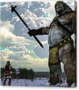 Thor And The Frost Giant Canvas Print