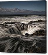 Thor's Well Or Cooks Chasm Canvas Print