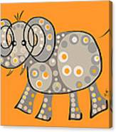 Thoughts And Colors Series Elephant Canvas Print