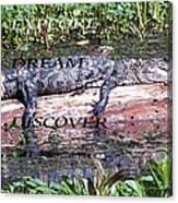 Thr Gator Canvas Print
