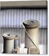 Thread And Needle Canvas Print