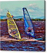 Three Amigo Windsurfers Canvas Print