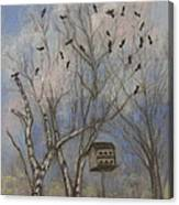 Three And Twenty Blackbirds Canvas Print