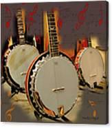 Three Banjoes Canvas Print