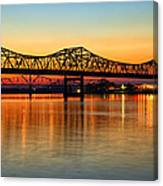 Three Bridge Sunset Canvas Print