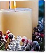 Three Burning Candles Canvas Print