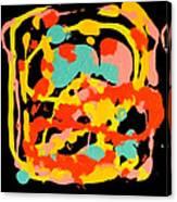 Three Carnival Canvas Print