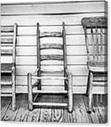 Three Chair Porch Canvas Print