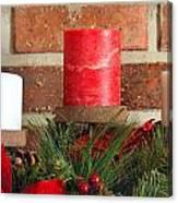 Three Christmas Candles Canvas Print