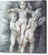 Three Cupids Canvas Print