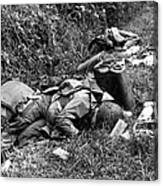 Three Dead U.s. Airborne Troops Canvas Print