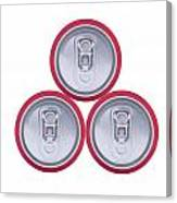 Three Drink Cans Canvas Print