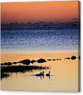 Three Ducks At Dawn Canvas Print