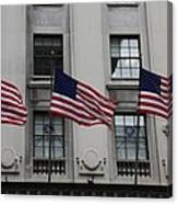 Three Flags Together On 5th Avenue Canvas Print